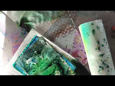"""Craft With Me: """"Tie"""" Dyeing Paper with Dylusions Ink Spray"""