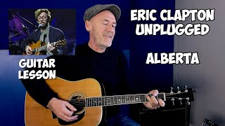 Eric Clapton Unplugged   Alberta Guitar Lesson   Acoustic Blues Guitar