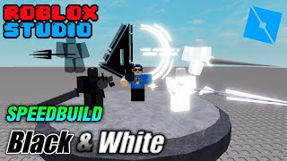 Speed ​​Build : Navarone19 CH Model 6 Black&White - roblox studio