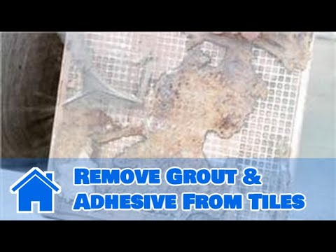 Tile 101 How To Remove Grout Adhesive From Tiles Youtube