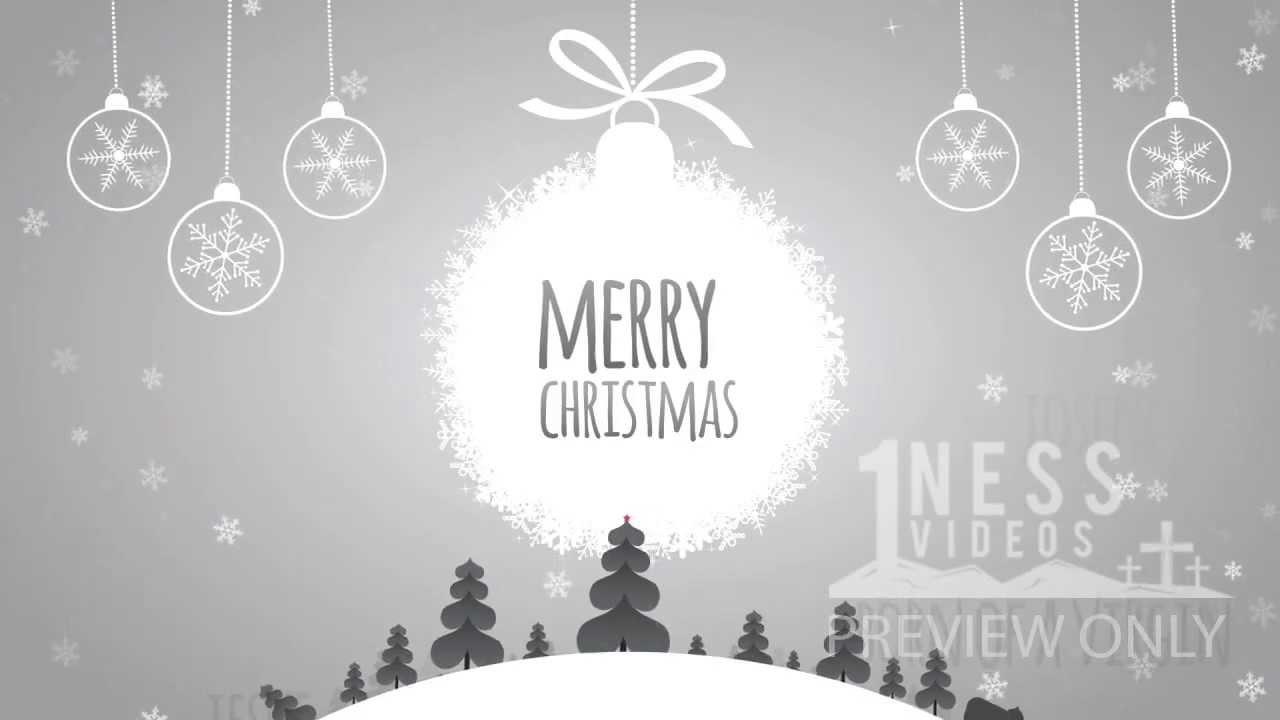 Winter Wonderland Merry Christmas Church Motion Background ...