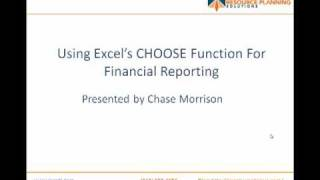 Financial Reporting Tricks With Excel's CHOOSE Function (1 of 2)