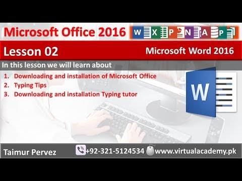 Microsoft Word | Downloading and installation typing tutor | typing tips | Mavis beacon | Lesson 02