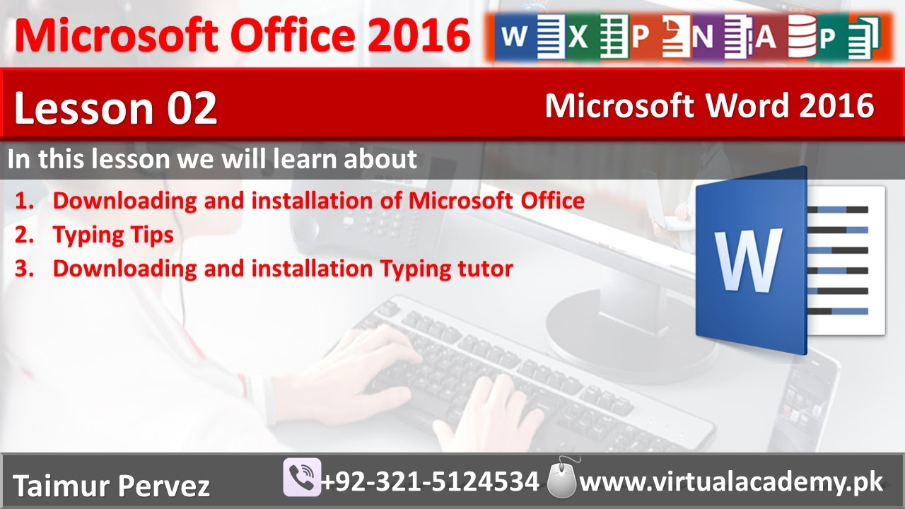 Microsoft Word Downloading And Installation Typing Tutor Typing