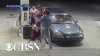 Spring breakers turn tables on armed robber at Florida gas station