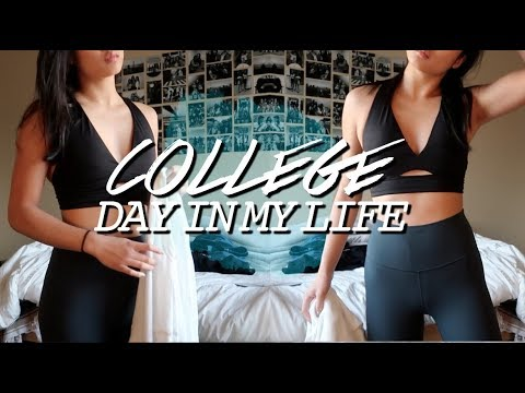 COLLEGE DAY IN MY LIFE | Staying Fit On A Busy Schedule!