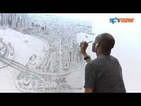 Stephen Wiltshire's Singapore Panorama. Full timelapse