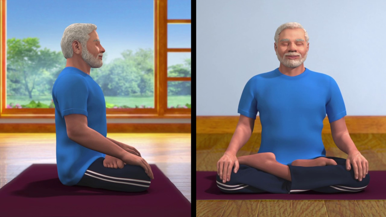 Yoga with Modi : Dhyana Hindi