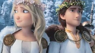 Hiccup and Astrid gęt married and there kids meet Toothless and his Kids