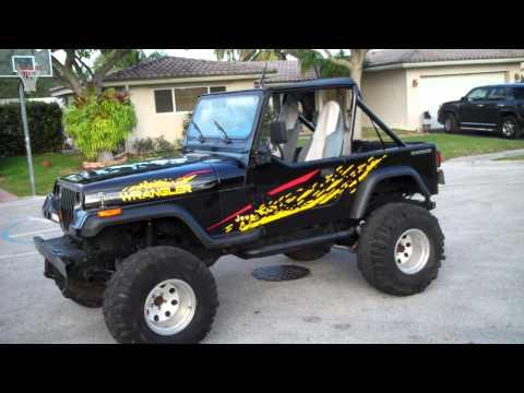 1990 jeep wrangler for sale lifted 9500 obo www bigboyhotrods com youtube. Black Bedroom Furniture Sets. Home Design Ideas