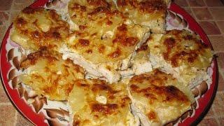 Очень вкусная Курица запеченная с ананасом и сыром рецепт