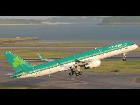 Aer Lingus Boeing 757-200 [EI-CJX] takeoff from BOS