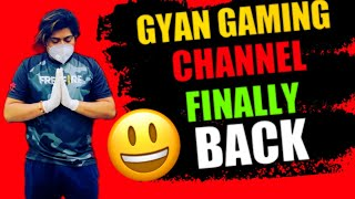 Gyan gaming channel finally back | Gyan gaming channel recovered after hack | A.D.A