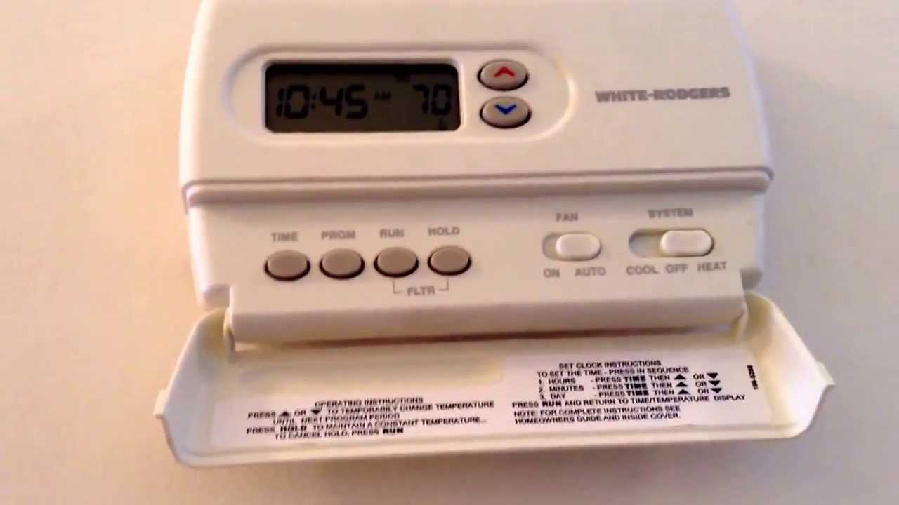 white rodgers thermostat hd youtube rh youtube com White Rodgers Parts Catalog White Rodgers Logo