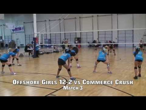 Offshore Volleyball 12-2 vs Crush 11's (Match 3) 2/22/15