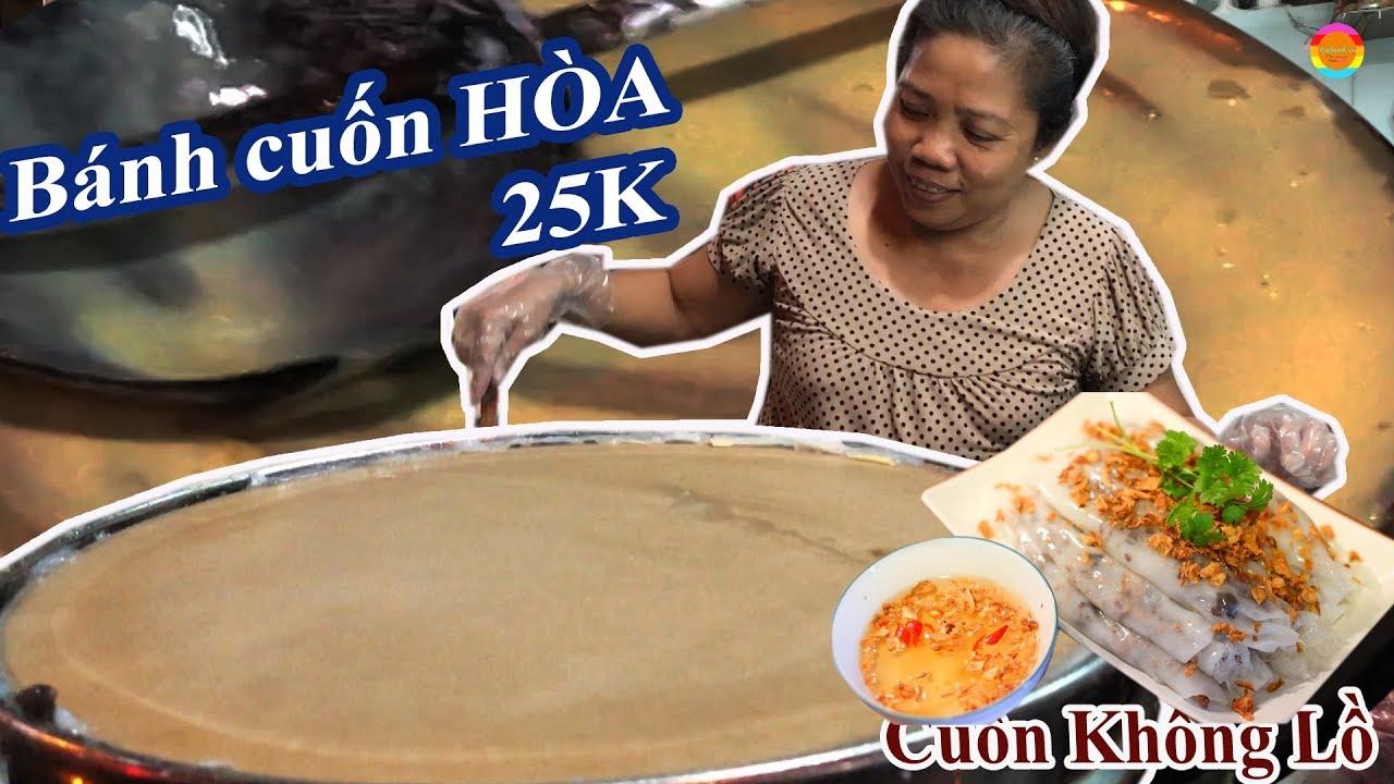 """Bánh cuốn Hòa 35 năm hút khách với cuốn bánh """"bự chảng"""" siêu ngon ở Sài Gòn – Gofood vn"""