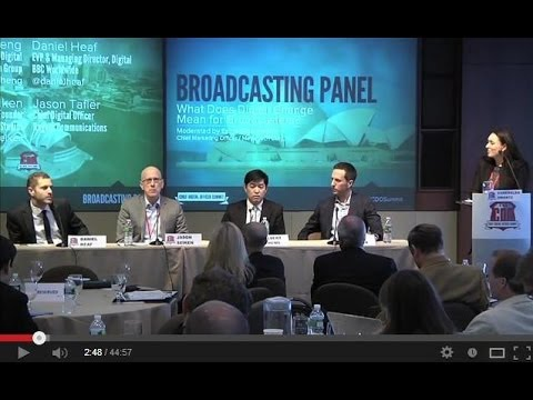 Broadcasting Panel at the Chief Digital Officer Summit (Thomson Reuters NYC Feb 2013)