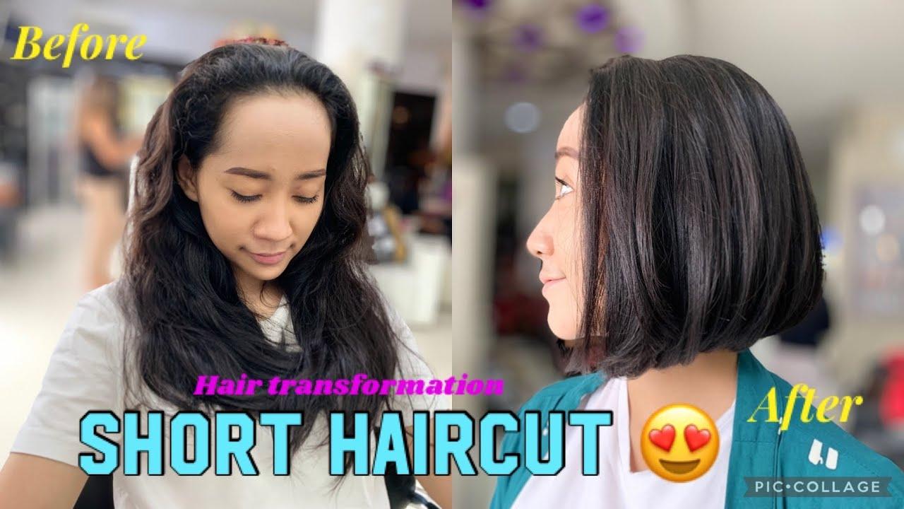 LONG TO SHORT HAIRCUT | hairmakeover | transformation haircut 2021 | Bob Haircut | shorthairstyle