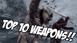 Repeat youtube video Skyrim: TOP 10 WEAPONS
