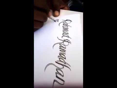 Membuat Tulisan Indah Dengan Cepat Youtube