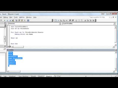 Excel VBA Basics #30 How to Loop Through Each Worksheet in Workbook