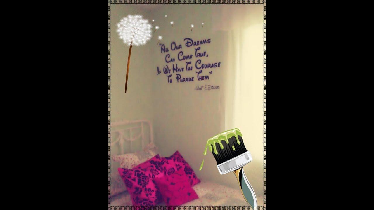 Como escribir una frase con pintura en la pared de tu - Frases para paredes habitaciones ...