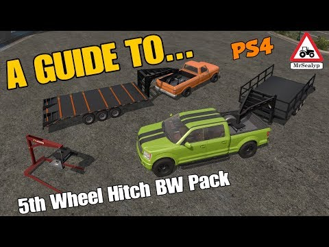 A Guide to... 5th Wheel Hitch BW Pack. New Mod! Farming Simulator 17 PS4. Review. thumbnail