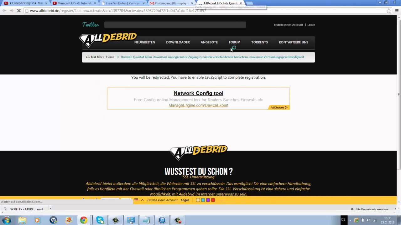 Webtipp: alldebrid.de Downloaden mit Premiumvorteilen