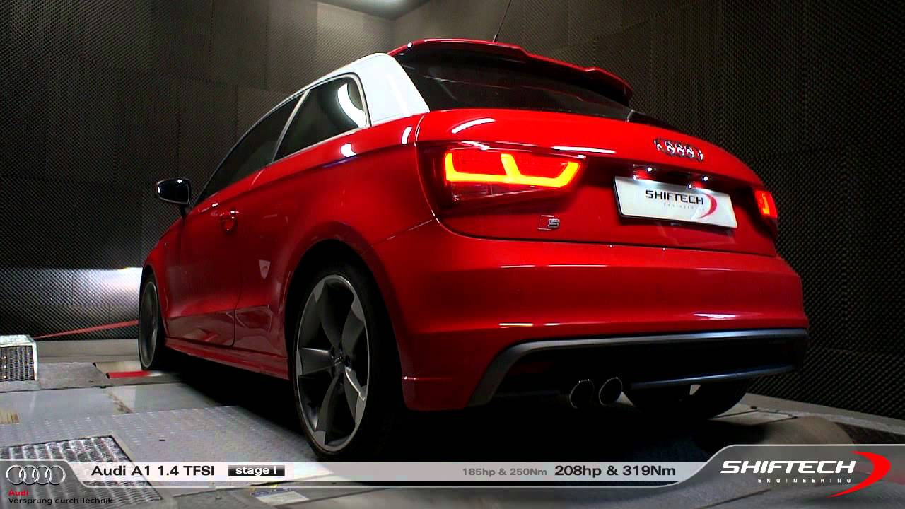 reprogrammation moteur audi a1 1 4 tfsi 185hp 208 hp amazing original exhaust sound hd. Black Bedroom Furniture Sets. Home Design Ideas