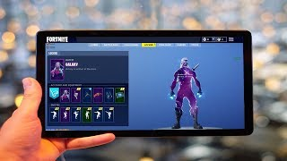 Aller à la boutique d'objets Fortnite sur un Galaxy Tab S4!- GALAXY SKIN IN SHOP?! -DÉVERROUILLAGE DE LA PEAU DE GALAXIE?!