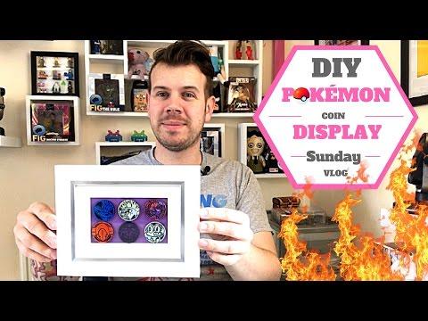 DIY Pokémon Coin Display - Sunday Vlog