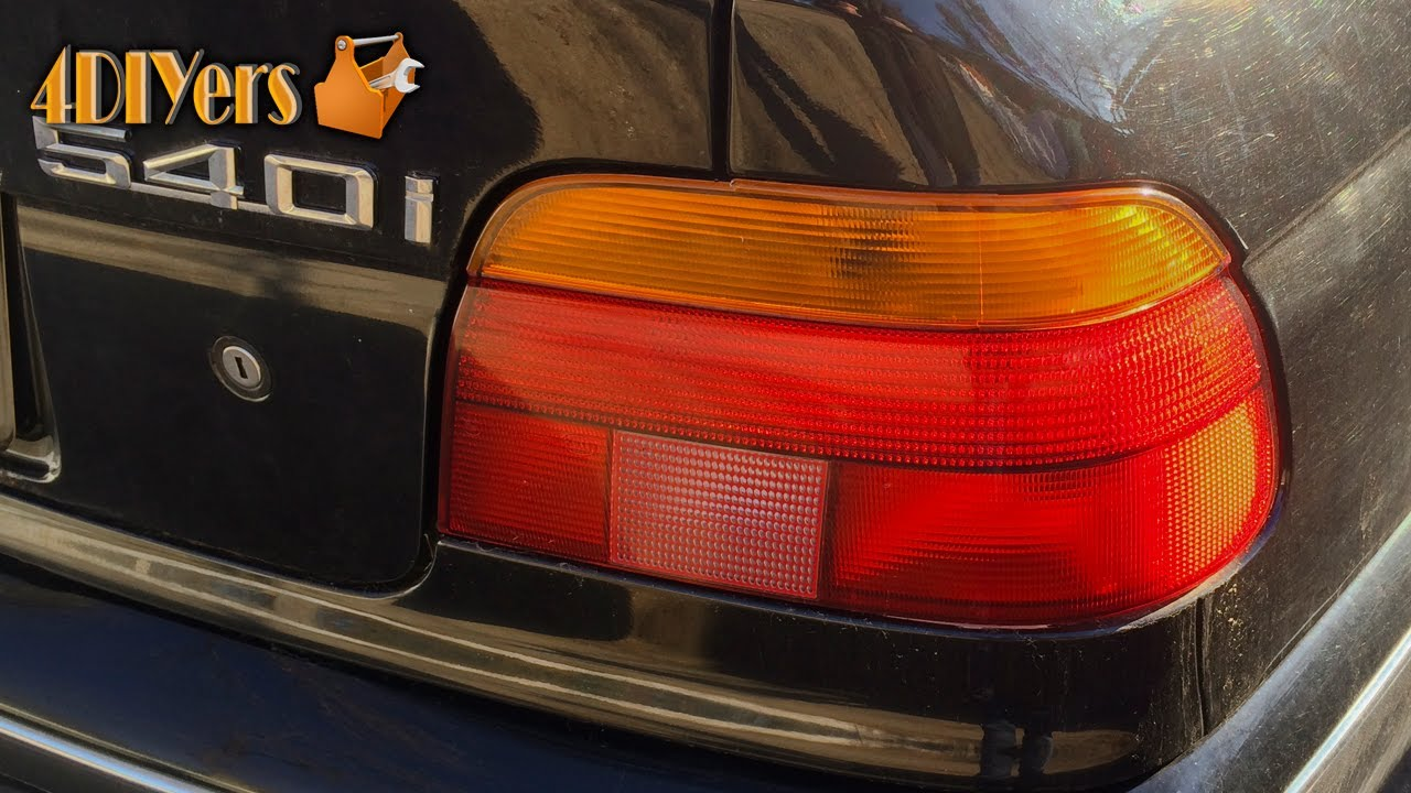 Diy Bmw E39 Tail Light Bulb Replacement Youtube