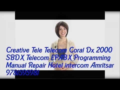 Creative Tele Telecom sbdx Coral DX 2000 EPABX Programming Repair hotels in Amritsar 9781595981
