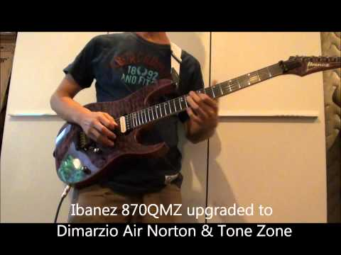 Ibanez Premium RG 870 Before & After Dimarzio Pickups Upgrade
