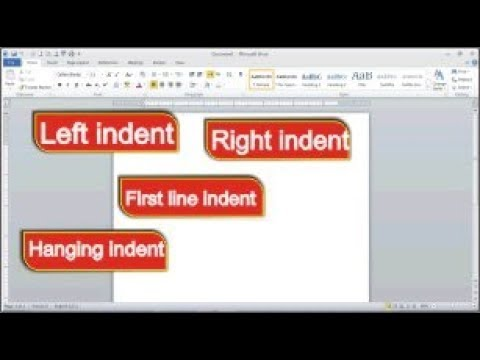 How to Use Indents, tab Position in Word 2010: Indent and Tabs