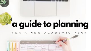 How I plan for a new academic year | Study planning & Weekly planning | studytee