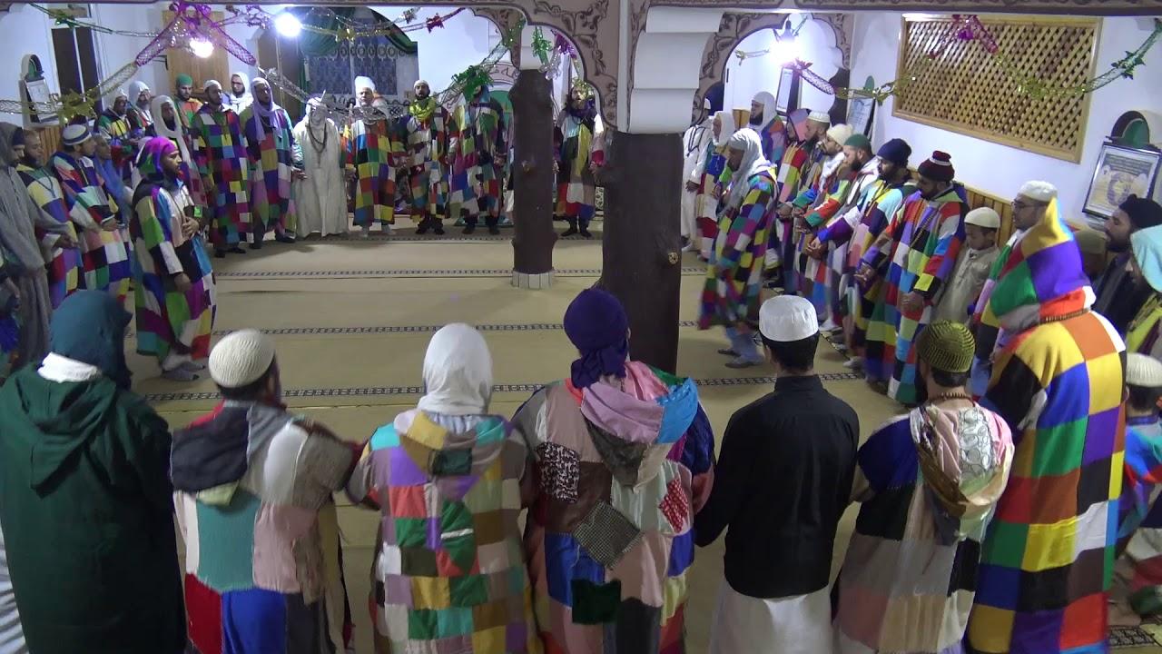 هو هووو به تحرك السكون وَارْسُمْ سِرًّا أخْفَاهْ و الجذبة الصوفية بمجمع الطريقة الكركرية المغرب