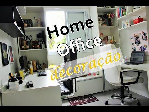TOUR PELO HOME OFFICE DECORADO!