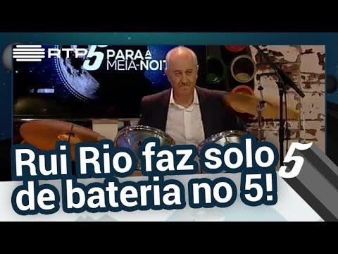 Rui Rio faz solo de bateria no 5 - 5 Para a Meia-Noite