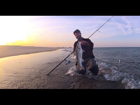 Surfcasting Cape Cod's Great Beach (the National Seashore) spring 2015