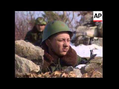 KOSOVO/YUGOSLAVIA: SERBIAN SOLDIERS ON BORDER PATROL