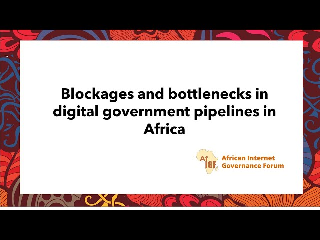 vAfIGF 2020 #WS 6: Blockages and bottlenecks in digital government pipelines in Africa