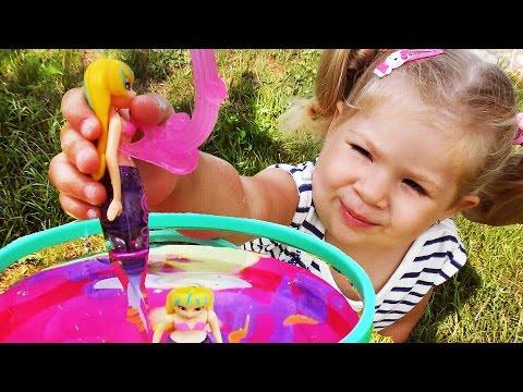 РУСАЛКА ИГРА ДЛЯ ДЕВОЧЕК Волшебная Русалочка UNBOXING NEW TOY for girls Mermaid doll swim in Pool