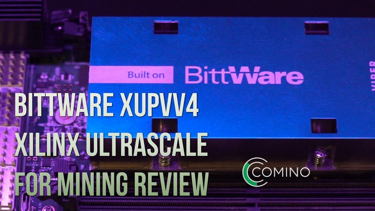 BittWare XUPVV4 UltraScale+ VU13P FPGA with 4x QSFP and 512