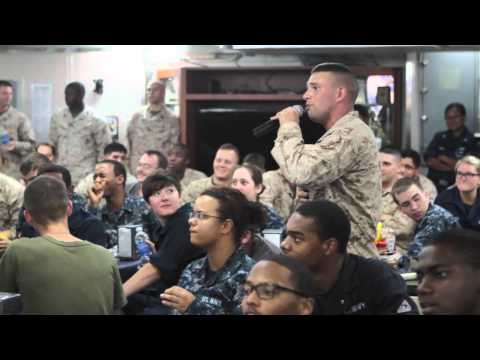 Singing at sea; Karaoke with the 31st MEU