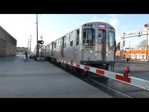 "CTA Transit: 2009-14 Bombardier 5000 Series ""L"" Pink Line at Cicero Crossing"