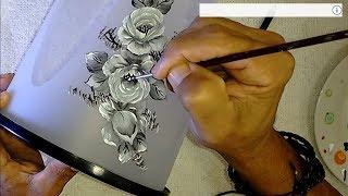 Aprenda a Pintar Rosas no plástico com tinta de tecido
