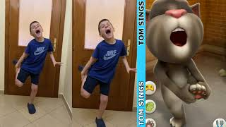 Tom Sings │ Imitate Cute Dance │ bắt chước mèo Talking Tom EP 11