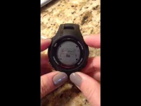 Helpful How To:  Turning Off Garmin Forerunner 210