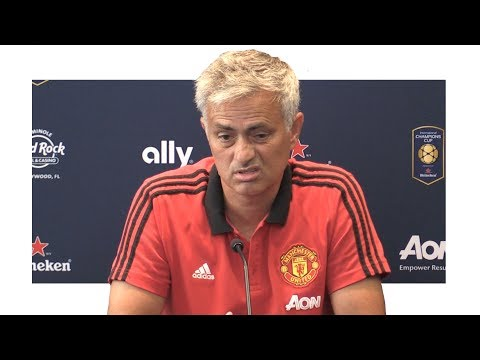 Jose Mourinho Pre-Match Press Conference - Barcelona v Manchester United - Man United Tour 2017
